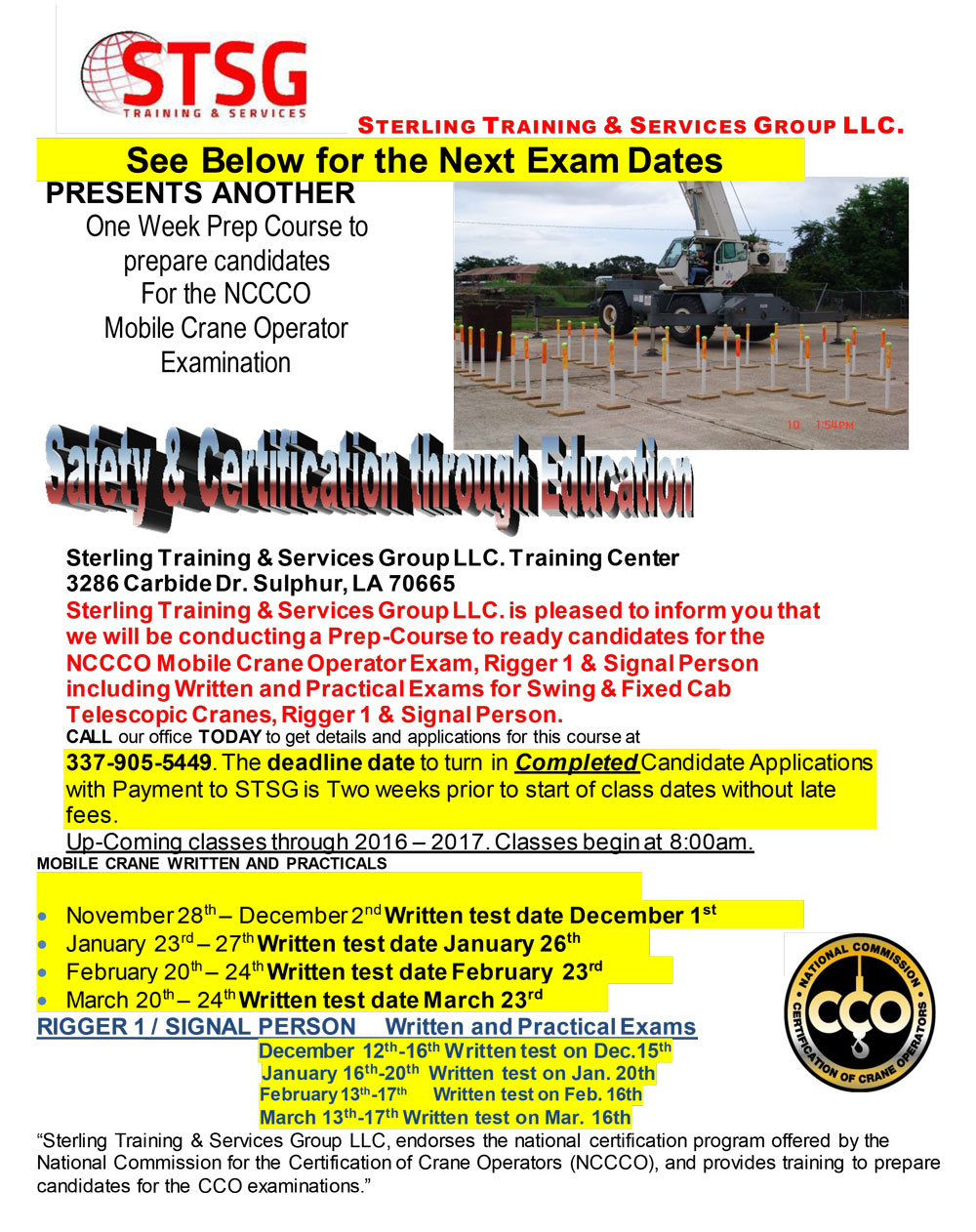 Nccco certification louisiana stsg click here for flyer 1betcityfo Images
