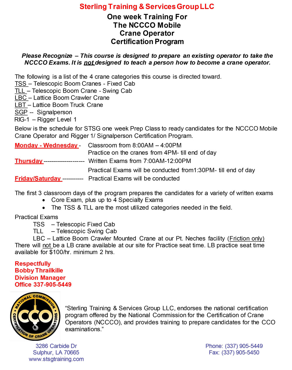 Nccco certification louisiana stsg click here for flyer 1betcityfo Image collections
